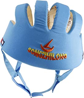 Prettyia Toddler Adjustable Safety Helmet Headguard Protective Harnesses Hat Safety Caps for Walking & Crawling - Blue Type B