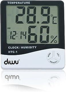 Diwu HTC-1 Saatli Nem Ölçer ve Termometre