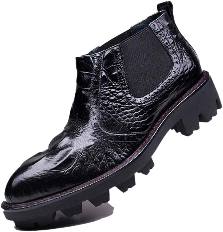 Chelsea Stivali Martin Stivali da Uomo A Punta da Uomo Elastici Bordeaux Neri Traspiranti Inghilterra