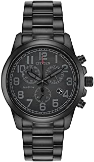 Citizen Men's Chandler Quartz Stainless Steel Strap, Black, 20 Casual Watch (Model: AT0205-52E)
