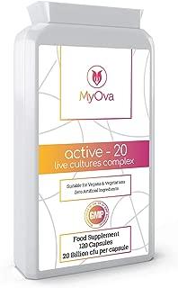 MyOva - Suplemento probiótico - 20 mil millones de UFC con Lactobacillus acidophilus - Producto vegetariano - 120 cápsulas
