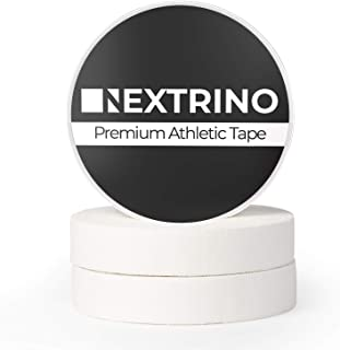 Nextrino Athletic Finger Tape (White) - XL 30' Rolls Protect Fingers and Toes in Weightlifting, Crossfit, Climbing, Martial Arts, MMA, Wrestling, Jiu Jitsu, More (3 Rolls)