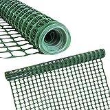 Houseables Plastic Mesh Fence, Construction Barrier Netting, Green, 4'x100' Feet, 1 Roll,...