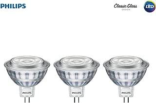 Philips LED MR16 Dimmable 35-Degree Spot Light Bulb: 620-Lumen, 3000-Kelvin, 7.5-Watt (50-Watt Equivalent), GU5.3 Bi-Pin Base, Bright White, 3-pack