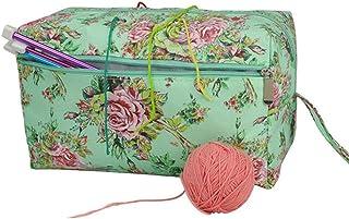Katech Sac a Tricot Rangement pour Fils Textiles, Sac à Tricoter Portable Sac Rangement Tricot Laine Crochet, Sac Tricoter...