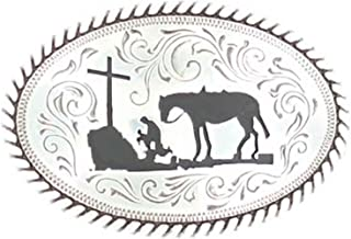 Boys Kid s MF Cowboy Prayer Buckle Silver