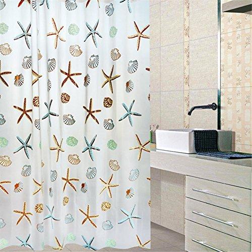 Bad Vorhang für Badezimmer Badewanne Duschvorhänge Badewannenvorhang, PEVA Wasserdicht, PVC-frei Umweltfre&lich Waschbar, Duschvorhang aus Stoff Wasserdichter Anti-Schimmel IHRKleid (200 x 180 cm)