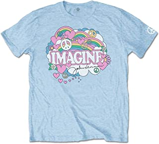 John Lennon Rainbows, Love & Peace T-Shirt Homme