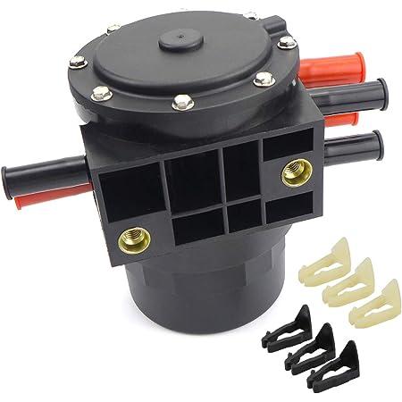 XXSR 6 Ports Fuel Tank Selector Valve Diesel 5 Pins Flat 6C3Z-9189-A Fits for Fo-rd F250 F350 Super Duty F450 F550 E150 E250 E350 Ranger 6.0L 6.4L 6.7L 7.3L 904-454 6C3Z9189A