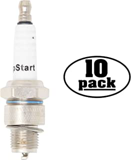 UpStart Components 10-Pack Replacement Spark Plug for Wisconsin-Robin Engine Power Equipment W1-450V Vertical Shaft 12.0 h.p. - Compatible with Champion L90C & NGK B6HS Spark Plugs