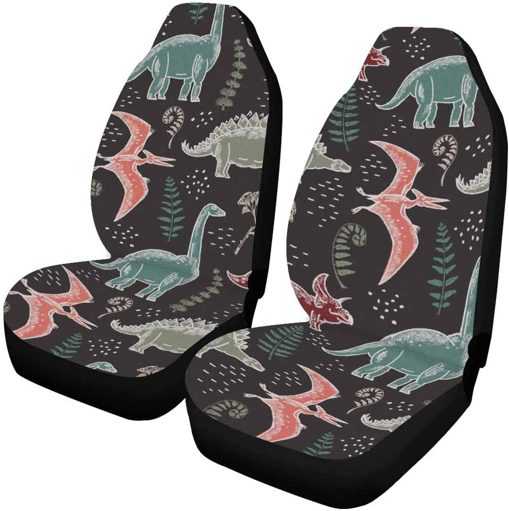 InterestPrint Front Raleigh Mall Car Seat Covers with Each Different Pr San Francisco Mall Piece