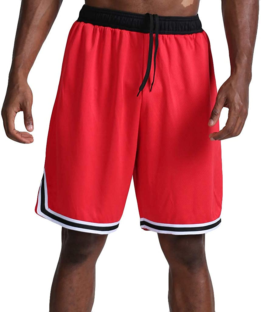 VEKDONE Men Tops Mens Casual Shorts Drawstring Outdoor Stretch Quick Dry Workout Running Shorts