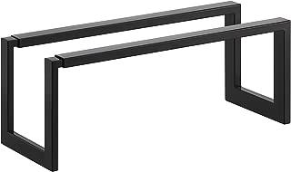 Red Co. Minimalistic Modern Expandable Shoe Rack, Slim Line Adjustable Footwear Storage and Organization, Black
