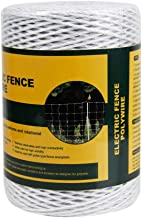Farmily Portable Electric Fence Polywire, 1312 Feet 400 Meter, 6 Conductors, White Color
