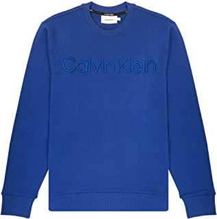 Calvin Klein Men's Crew Neck Embroidered Logo Sweatshirt Black