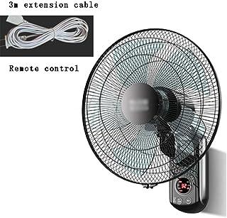 QFFL Ventilador Pared,5 Aspas Hechas de Material PP, Oficina/Comedor/Sala de Estar, Mudo Doméstico, Multifunción, Función de Enfriamiento por Control Remoto, Potente Ventilador de Pared Eólica