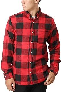 (アーケード) ARCADE ネルシャツ メンズ ボタンダウン チェックシャツ 無地 チェック 長袖シャツ メンズ カジュアルシャツ
