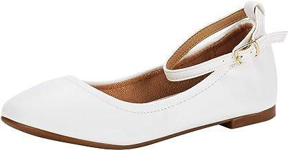 DREAM PAIRS Toddler/Little Kid/Big Kid Girl's Ballerina Flat Shoes