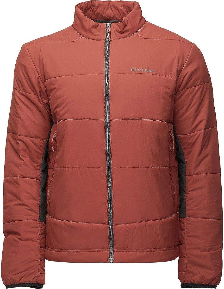 Flylow Men's Max Jacket - Primaloft Insulated Micropuff Midlayer Ski and Snowboard Jacket (Barn/Black, M)