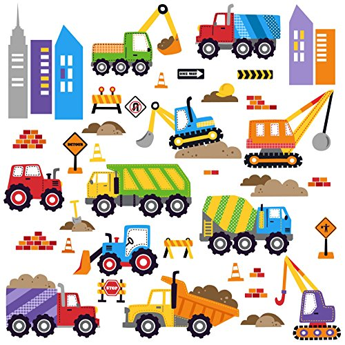 Construction Decorative Stick Sticker Decals