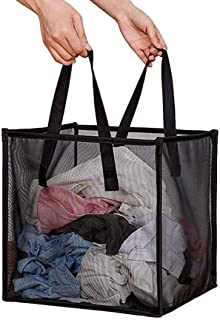 Pop Up Laundry Baskets - Mesh Collapsible Laundry Hampers Storage with Handle - Foldable for Washing Storage, Great for Th...