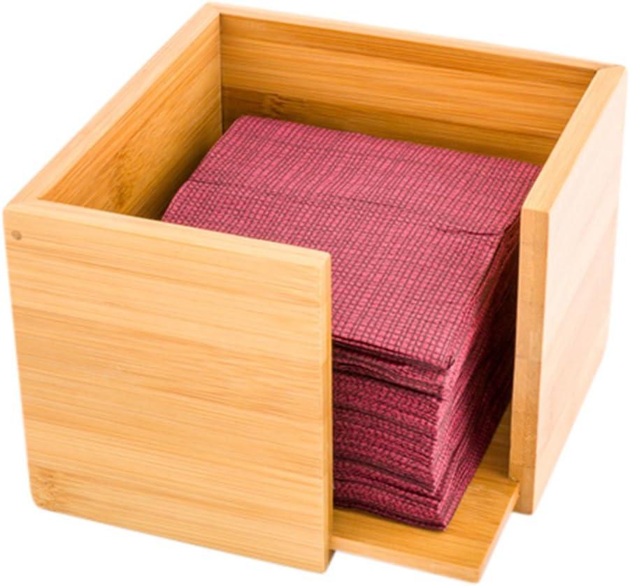 Bamboo [Alternative dealer] Cocktail Max 73% OFF Napkin Holder Wooden Co Natural -