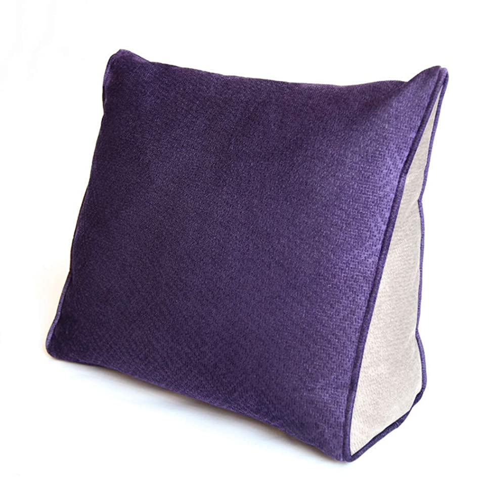 社会乞食ノーブルTJTJ ファッション枕ベッドベッドヘッドレスト枕腰椎枕オフィス腰椎車のクッション枕 (Color : A, サイズ : 45x40x15cm)