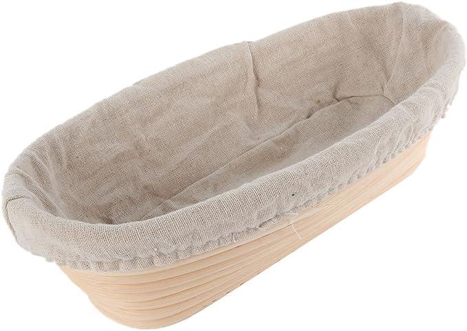 Details about  /Proofing Basket Natural Oval Rattan Liner Wicker Fermentation Sourdough Bread