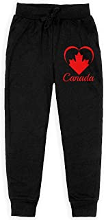 Dxqfb Canada Heart 2019 Red Boys Sweatpants,Sweatpants For Boys