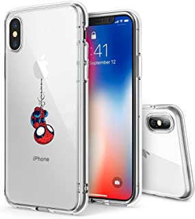 Litech™ Case for Apple iPhone Xs MAX (2018) [Flexfit] Comic Super Hero Inspired Series [Premium Scratch-Resistant] (Spider Man)