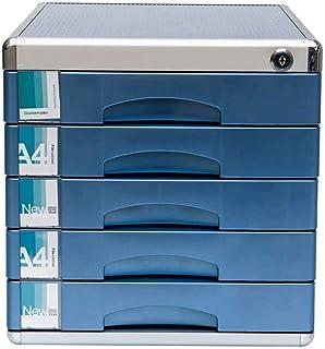 خزانة معدنية لتخزين وتنظيم المكاتب ومبرد التخزين، خزانة للملفات ، قاعدة التخزين المجمعة بالكامل تحت المكتب مع 5 أدراج لـ A...