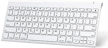 Omoton Ultra Slim Rechargeable Wireless Bluetooth Keyboard for iPad
