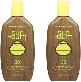 Sun Bum Original Moisturizing Sunscreen Lotion, Broad Spectrum UVA,UVB Protection, Hypoallergenic, Paraben Free, Gluten Free, 8 ounce, 2 Count