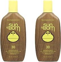 Sun Bum Original Moisturizing Sunscreen Lotion, Broad Spectrum UVA,UVB Protection, Hypoallergenic, Paraben Free, Gluten Free, 8 ounce, 2 Count