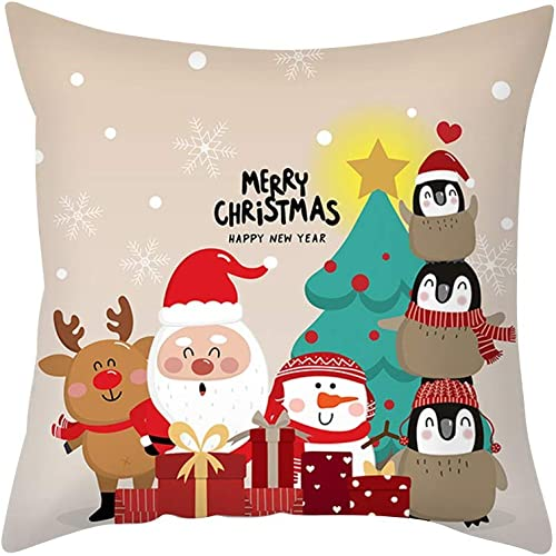 new arrival OPTIMISTIC 18 outlet online sale x 18Inch Christmas Throw Pillow Cover, Winter Holiday Home Pillow Cover, Xmas Cushion discount Cover Case Pillow Custom Zippered Square Pillowcase Home Holiday Decorative Pillowcase online sale