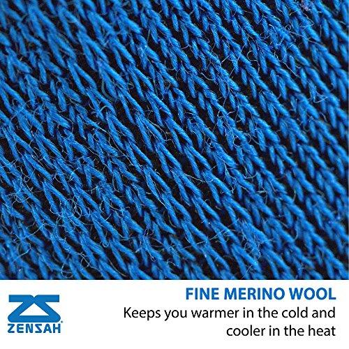 Zensah Wool Running Socks - Comfortable Grit Ankle Athletic Sport Sock - Moisture Wicking, Anti-Blister (X-Large (Men's 13-16, Women's 14.5-Up), Black/White/Grey - 3 Pack)