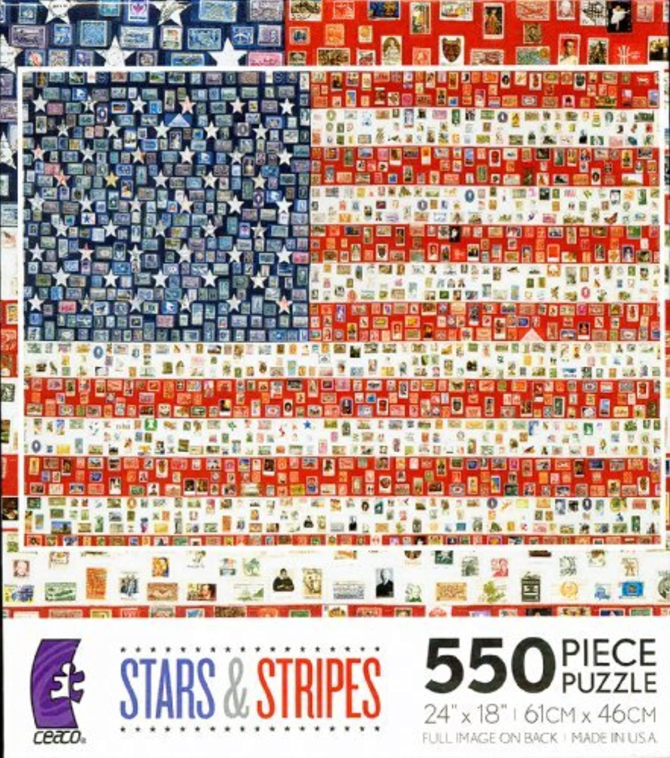 Campaign Button Flag 550 Piece Jigsaw Puzzle by Ceaco