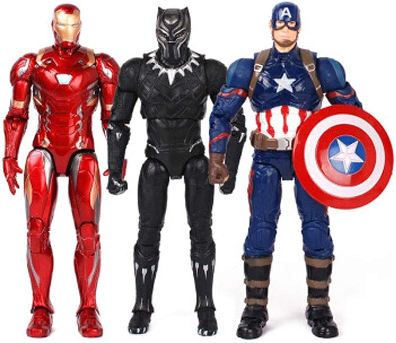 Spielzeug - Marvel Toys - Avengers 3 4-Joints - Spider-Man Panther Captain America Iron Man (Farbe   H)