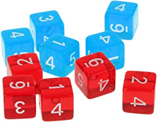 MagiDeal Set of 10pc D6 Dices Set for D&D RPG MTG Warhammer Games Party Pub Bar Fun