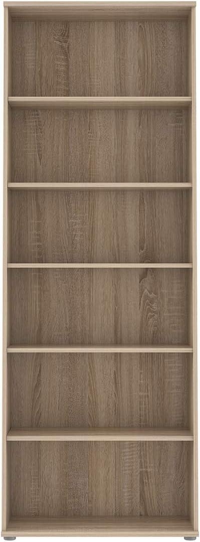 Rangement /étag/ère Moderne Collection Reverso Biblioth/èque 5 tablettes 6 niches d/écor ch/êne