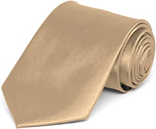 TieMart Boys' Bronze Solid Color Necktie