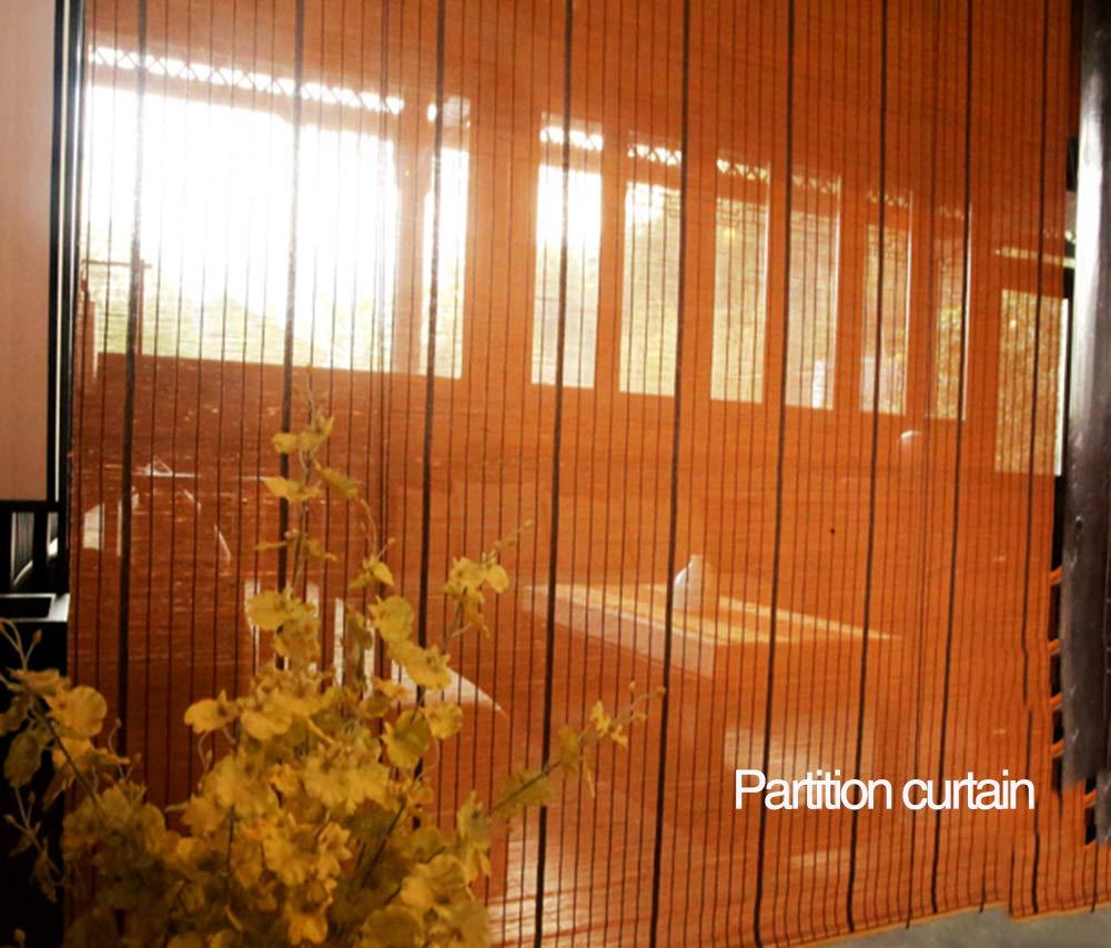 JZL - Estor de bambú para interior / exterior, elevar cortinas de ventana, patio / pabellón / pérgola / garaje, protección solar enrollable, 60 cm / 90 cm / 110 cm de