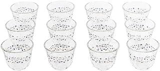Luminarc Tempered Glass Kawa Lovinette Cup - 12 Pieces,Clear