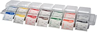 """DayMark Day of the Week 2"""" Square Dissolvable Labels, Monday-Sunday, Label Dispenser Included (1,750 labels)"""