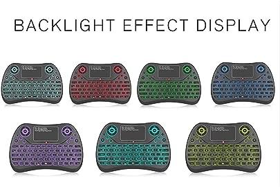 TLfyajJ Bunte Hintergrundbeleuchtungs-Ber hrungsfl chen-Bluetooth-Luft-Maus-drahtlose Tastatur f r intelligentes Fernsehen Mehrfarbig