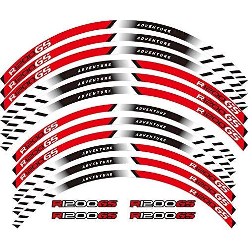 Pegatinas reflectantes para ruedas de motocicletas con cinta reflectante para BMW R1200GS ADVENTURE de 19 pulgadas (color: 2)