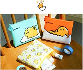Sanrio Gudetama Lazy Egg Multi Purpose Slim Jelly Pouch Cosmetic Pouch Makeup Pouch Pencil Pouch (3 Designs Available) (Mint)