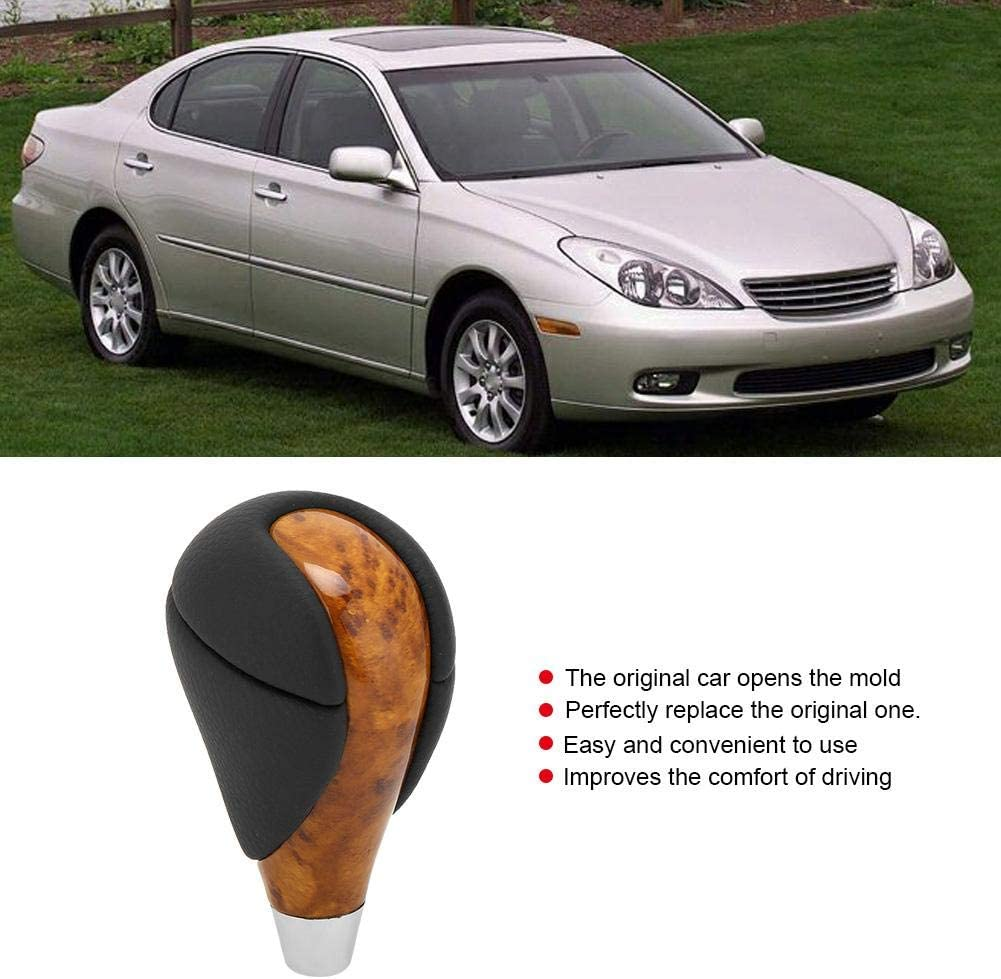 Knobs Automotive SHIFTIN Automatic Leather & Wood Replacement Gear ...