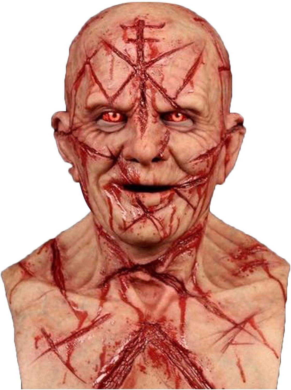 PEKLOKIW Máscara espeluznante para Halloween, máscara terrorífica, máscara para cicatrices, cosplay, terrorista, 3D, realista, cobertura para la cara miedante
