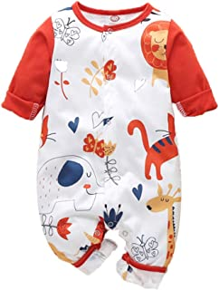 KUDICO Combinaison No/ël B/éb/é Fille Hiver Pyjama Automne Manche Longue Naissance Body Barboteuse Costume Tenues de No/ël V/êtements Rouge